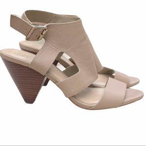 Vince Camuto Endell Sandbar Nude Leather Heels 9M